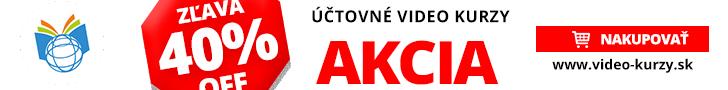 Akcia na účtovné video kurzy na našej stránke www.video-kurzy.sk